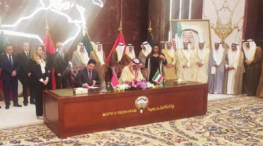 التوقيع على 5 اتفاقيات للتعاون الثنائي بين المغرب والكويت