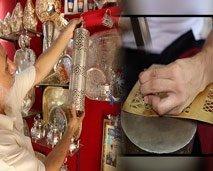 """""""الف  صنعة و صنعة"""" :إكتشاف أسرار تصنيع التحف النحاسية بسوق السفارين"""