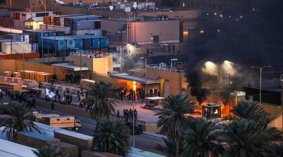 هجمات صاروخية على السفارة الأمريكية في بغداد