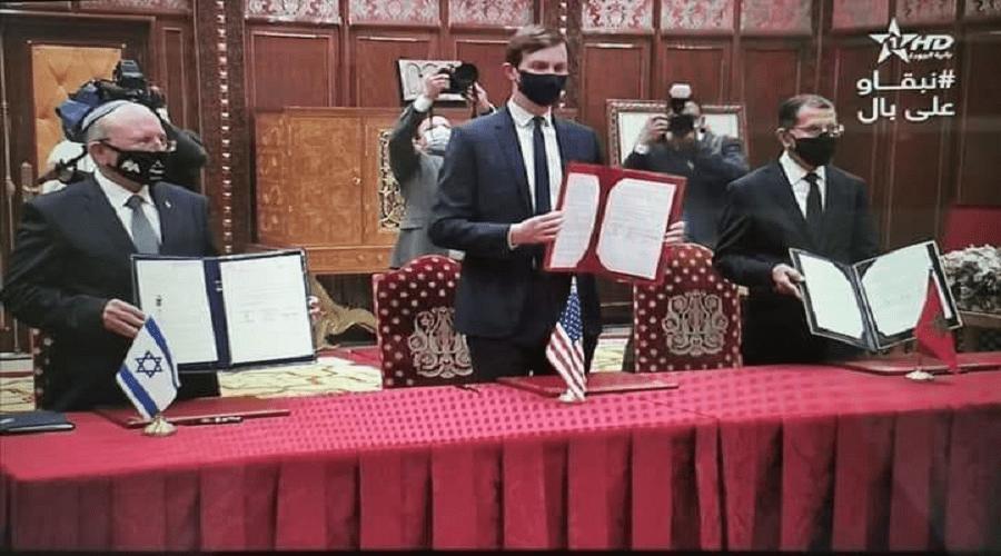 العثماني يوقع مع إسرائيل وأمريكا إعلانا مشتركا لاستئناف العلاقات