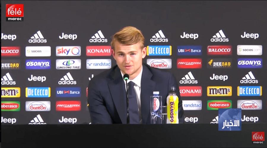 تقديم المدافع الهولندي ماتياس دي ليخت لاعبا جديدا لنادي يوفينتوس الإيطالي