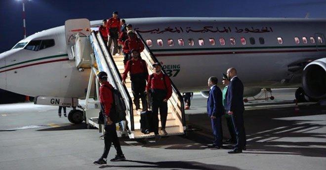 بالصور.. أسود الأطلس يصلون إلى روسيا للمشاركة في نهائيات كأس العالم