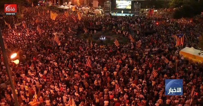 مظاهرات حاشدة في كتالونيا بعد عام من التصويت على الاستقلال