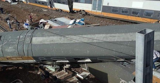 انقلاب قطار في منطقة بوقنادل قرب سلا وسقوط قتلى وجرحى
