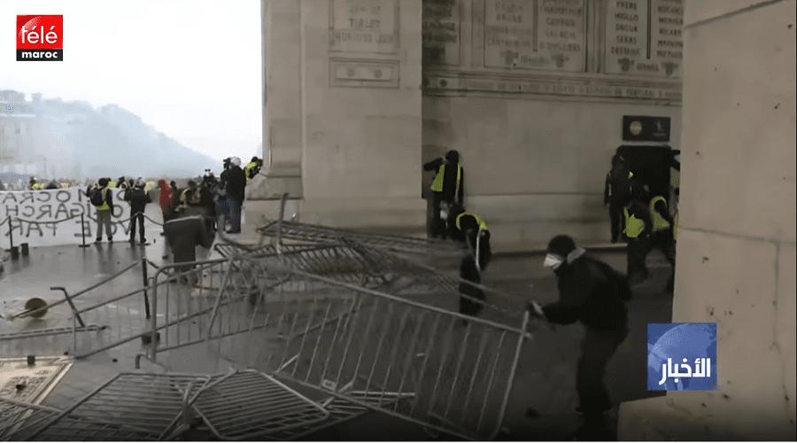 تكلفة الأضرار التي لحقت بقوس النصر بباريس قد تصل لمليون أورو