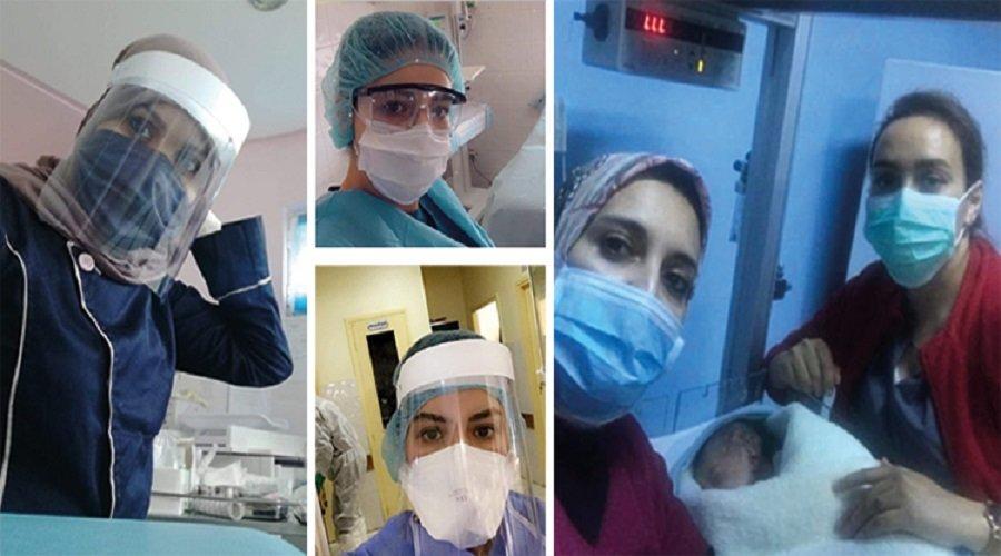 قابلات يواجهن كورونا بشجاعة في مستشفيات الشمال