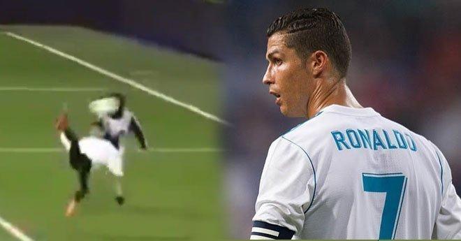"""فيديو.. هدف """"رائع"""" لابن رونالدو في ملعب البرنابيو"""