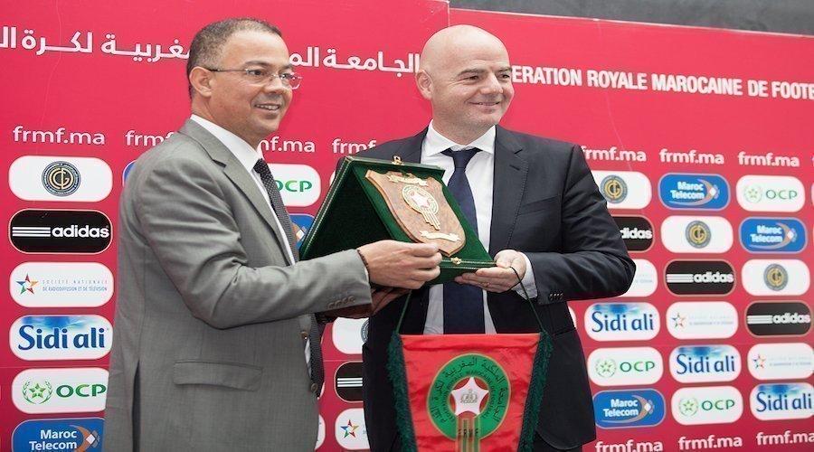 وفد مغربي وازن في استقبال رئيس «الفيفا»