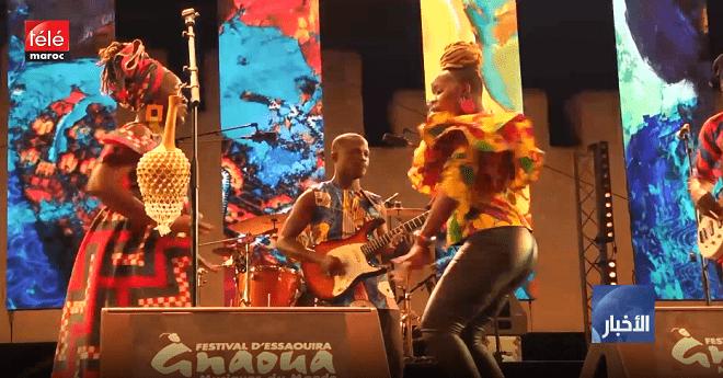 فيديو .. مهرجان كناوة يختتم فعاليته على إيقاع الموسيقى الإفريقية واللون الكناوي