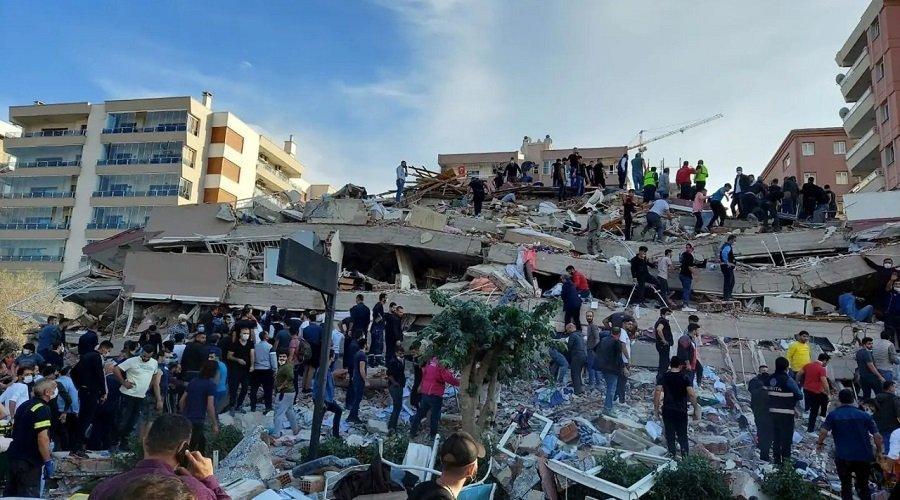 قتلى وجرحى في زلزال ضرب ولاية إزمير التركية