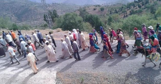 العطش والصحة تحركان مسيرة احتجاجية بأزيلال أزيلال