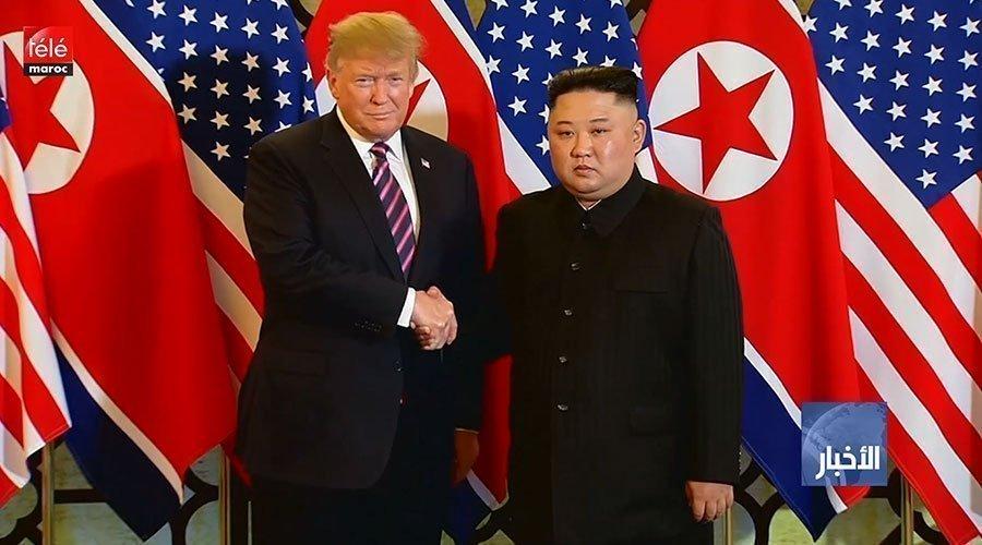 دونالد ترامب وكيم جونغ أون يغادران مكان انعقاد القمة بينهما دون التوصل لاتفاق