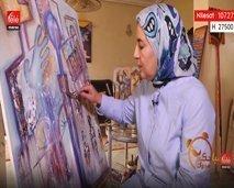 """الفنانة التشكيلية """"نادية خيري"""" تقربنا من بداياتها"""