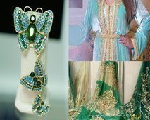 أزياء : آخر الإبتكارات في الخياطة التقليدية ،أسرار خبراء الأقمشة ومجوهرات Jewels forever