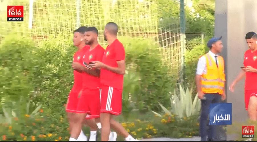 المنتخب الوطني يواصل الاستعداد لمباراة ساحل العاج وغياب بوطيب