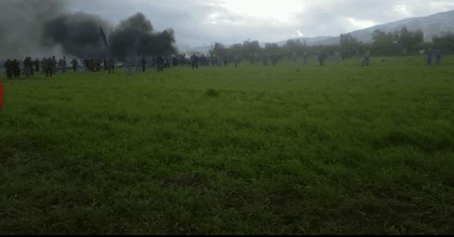"""105 قتلى بينهم 26 من """"البوليساريو"""" إثر سقوط طائرة عسكرية جزائرية  (فيديو)"""