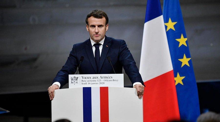 ماكرون يعلن إرسال حاملة طائرات لدعم الجيش الفرنسي في الشرق الأوسط