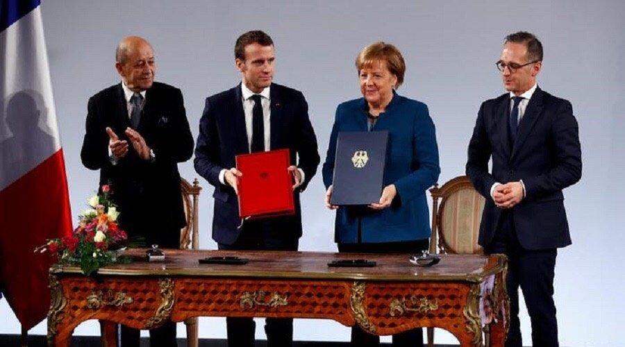 """توقيع معاهدة فرنسية ألمانية تمهيدا لإنشاء """"جيش أوروبي"""""""