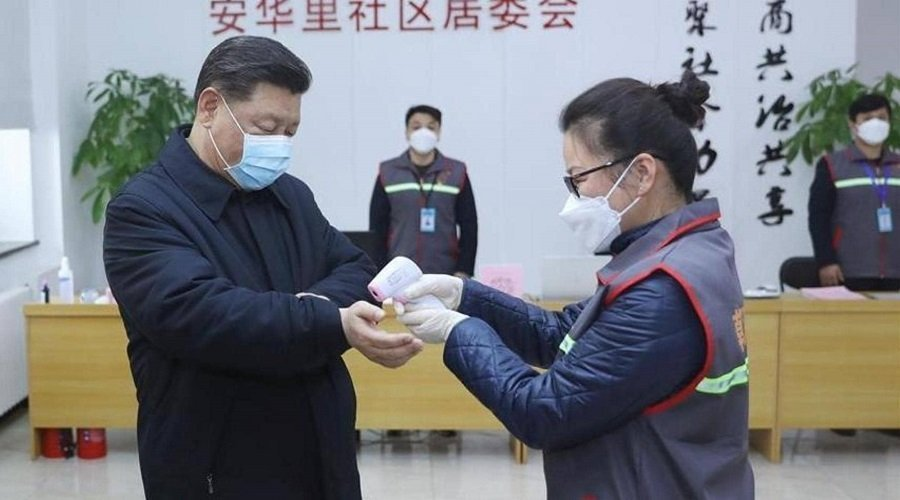 بالفيدو.. أول ظهور للرئيس الصيني منذ انتشار فيروس كورونا