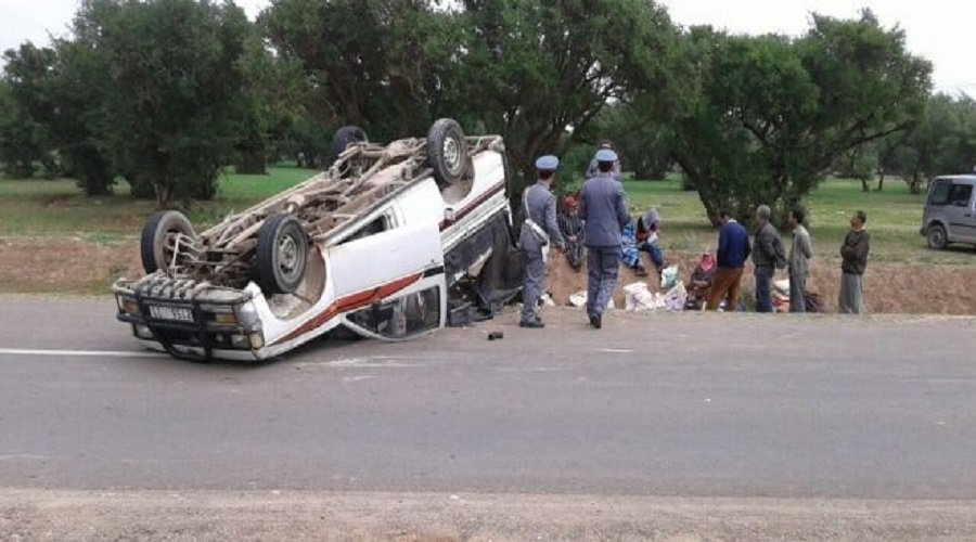 إصابة 25 عاملا فلاحيا في حادث انقلاب بيكوب ضواحي بني ملال