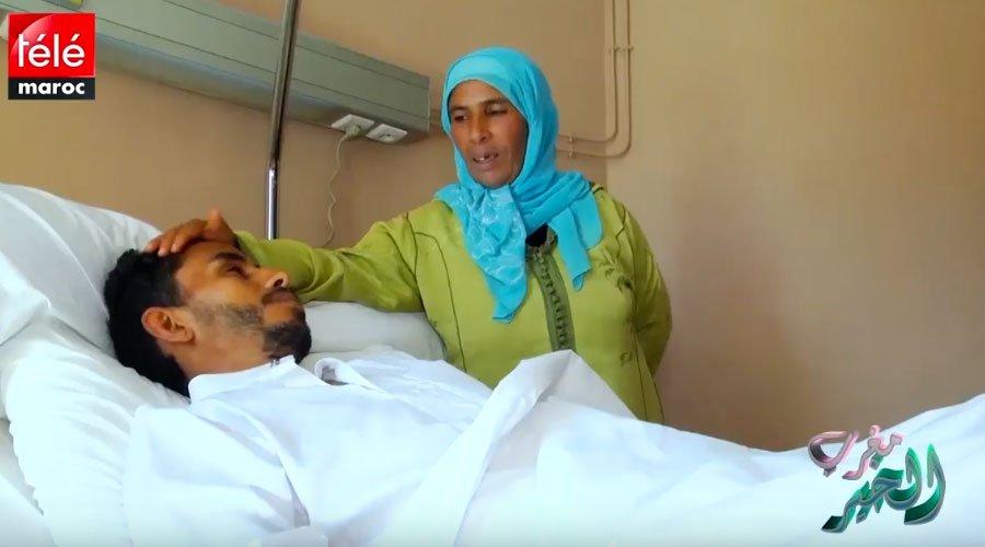 سعيد وأسرته يشكرون المحسنين بعد إجراء العملية