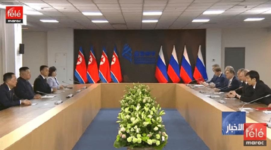 روسيا: بوتين وكيم جونغ أون يترأسان اجتماعا موسعا بين الوفدين الروسي والكوري الشاملي
