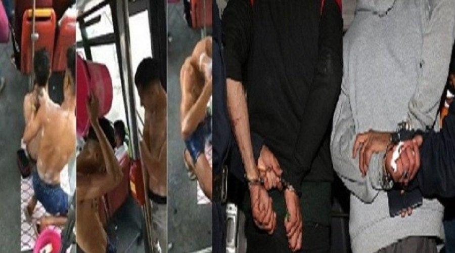 تفاصيل اعتقال بطلي فيديو الاستحمام في حافلة بأكادير