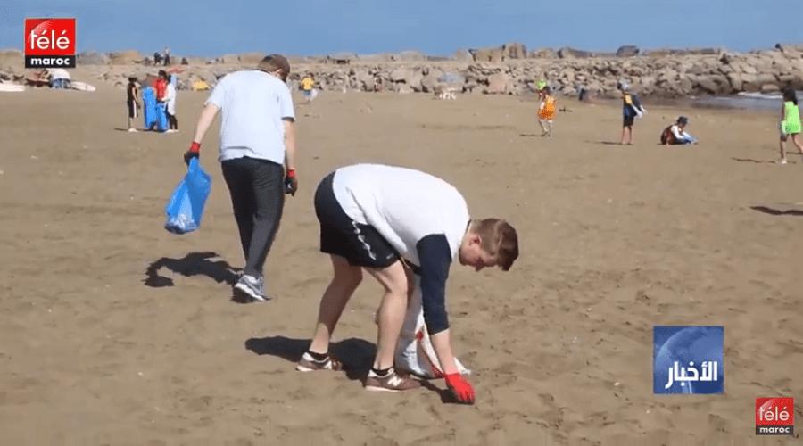 سفارات بلدان الشمال الأوروبي بالمغرب تنخرط في في حملة نظافة بشاطئ الوداية