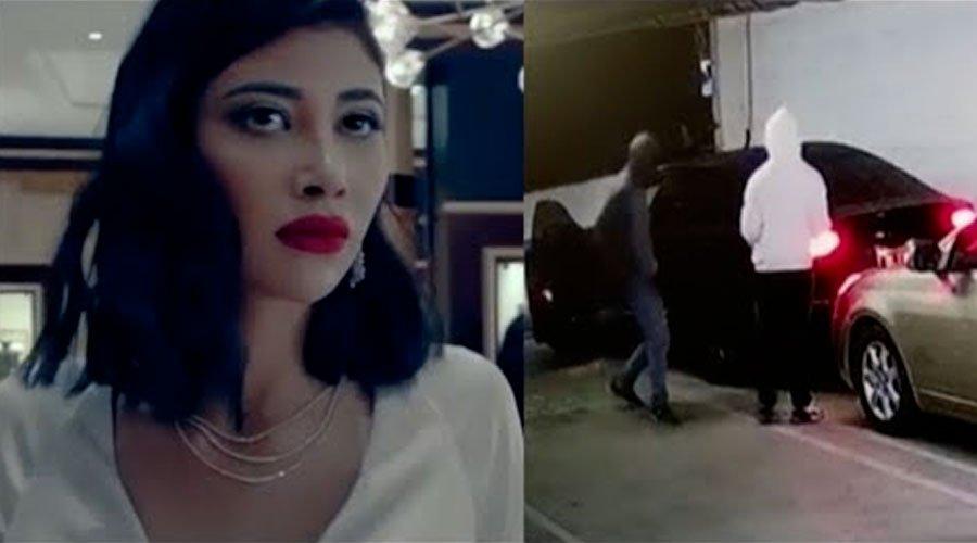 فيديو حصري لسرقة سيارة العارضة عبلة الصوفي في أمريكا