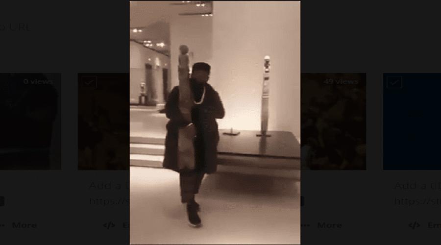 لاستعادة ما سُرق من إفريقيا.. كونغولي يحاول سرقة تمثال من متحف اللوفر (فيديو)