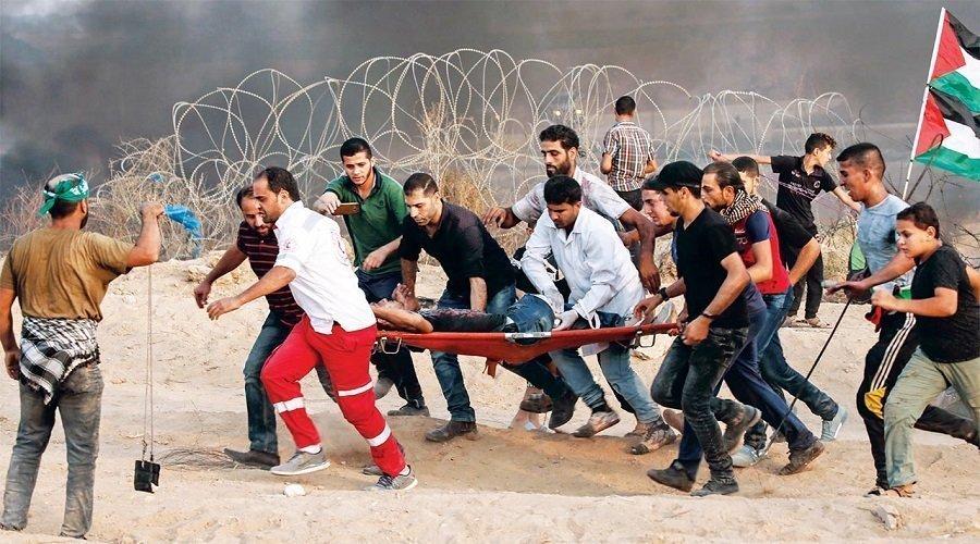 استشهاد فلسطينيين برصاص جيش الاحتلال خلال مسيرات العودة شرق غزة