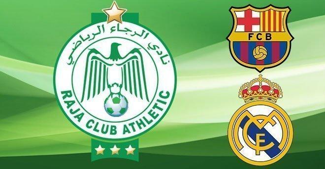 شعار الرجاء يتفوق على برشلونة والريال