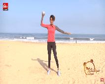 تمارين رياضية بسيطة باستعمال الكرة