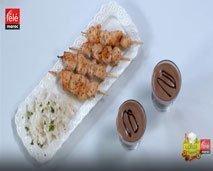 كيفية تحضير قضبان الدجاج بالعسل و موس بالشوكولا