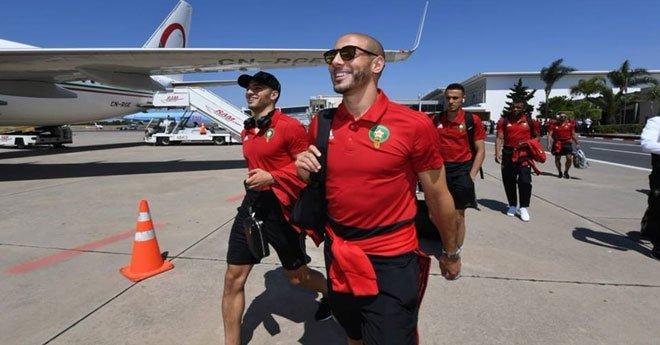 بعثة المنتخب الوطني تتوجه إلى سويسرا للاستعداد للمونديال