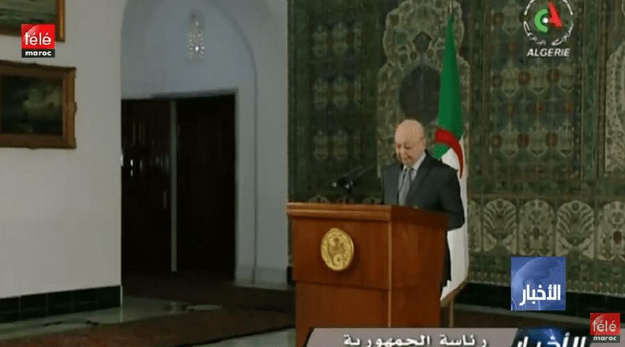 """الجزائر: الرئيس المؤقت عبد القادر بن صالح يدعو إلى """"حوار شامل تمهيدا للانتخابات"""""""