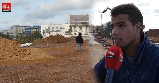 مرتادو كورنيش عين الدياب مستاءون بسبب استمرار الأشغال منذ بداية سنة
