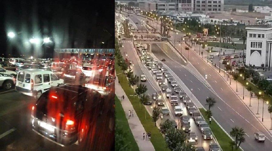 فوضى وحوادث سير بعد القرار المفاجئ بوقف التنقل إلى عدد من المدن بالمغرب