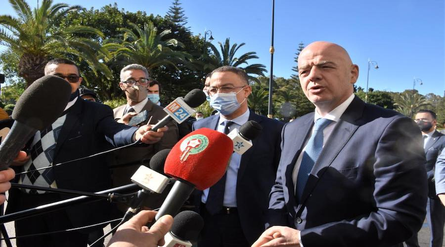 رئيس «الفيفا»: «المغرب أصبح يلعب دوراعالميا في تطوير كرة القدم»