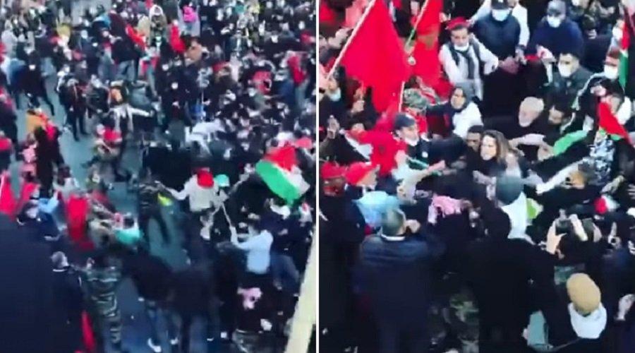 مغاربة فرنسا يتصدون لهجوم نفذه موالون للبوليساريو خلال مسيرة بباريس