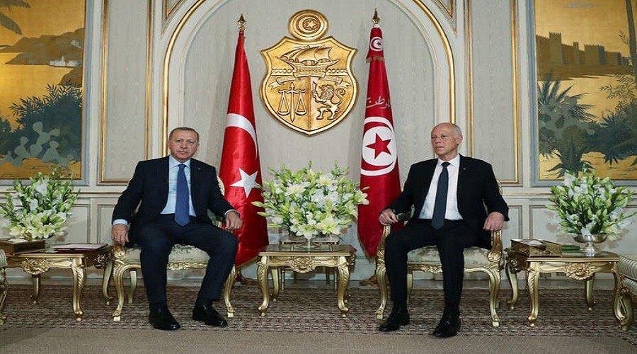 هذه تفاصيل لقاء أردوغان وقيس سعيّد في تونس