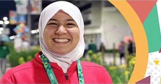 بطلة التايكواندو المغربية فاطمة الزهراء أبو فارس تحرز الميدالية الذهبية
