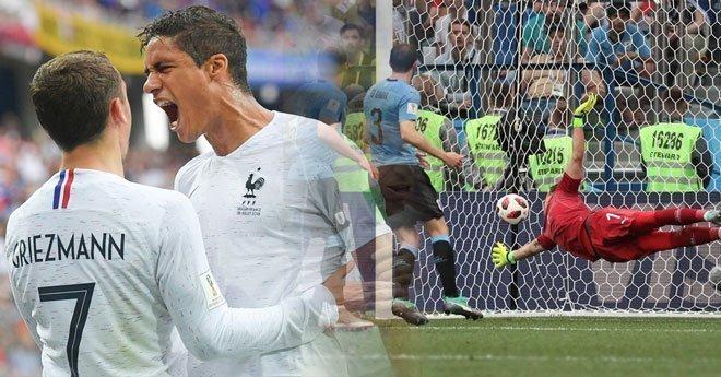 بالفيديو.. فرنسا تطيح بالأوروغواي وتتأهل لنصف نهائي المونديال