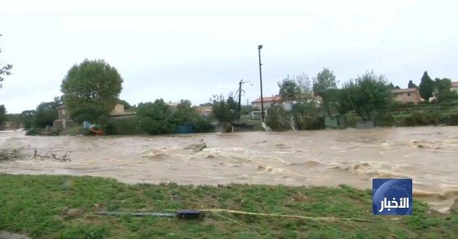 فرنسا ..السيول تقتل 10 على الأقل جنوب البلاد