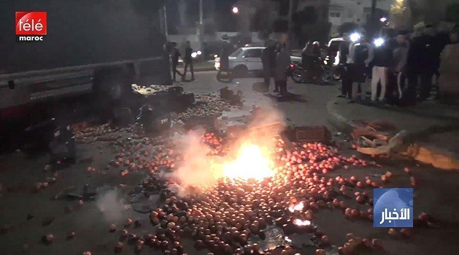 الدار البيضاء..حريق مهول يلتهم سوق الجملة وانفجار قنينات غاز