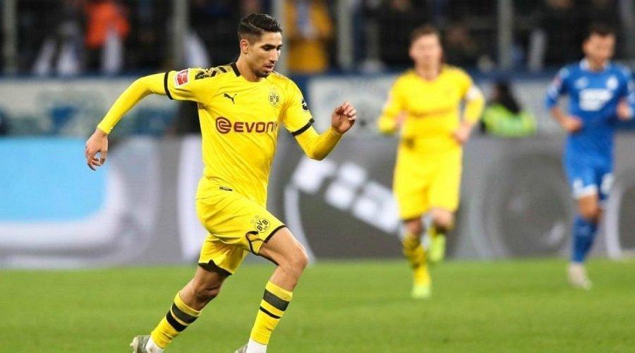 أشرف حكيمي أسرع لاعب في تاريخ الدوري الألماني