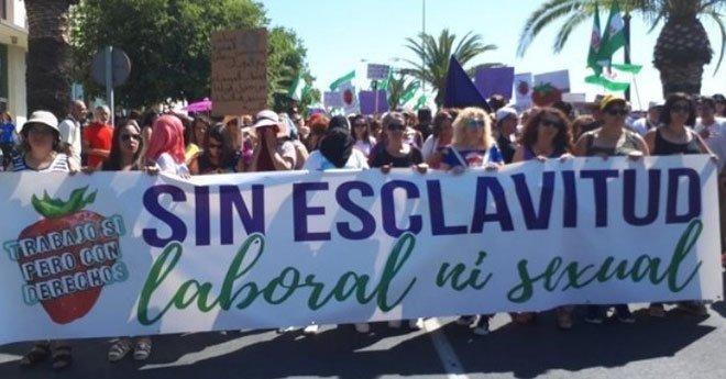 فيديو.. إسبانيا : مسيرة إحتجاجية تضامنا مع عاملات مغربيات تعرضن للتحرش
