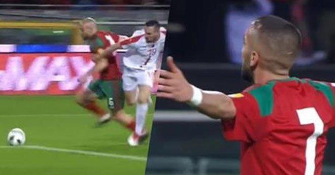 نهاية الشوط الأول بتقدم المنتخب الوطني ضد المنتخب الصربي بهدفين لهدف