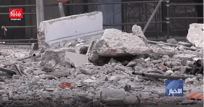 فيديو .. انهيار جزء من عمارة ليوطي يرعب المارة بمركز الدار البيضاء