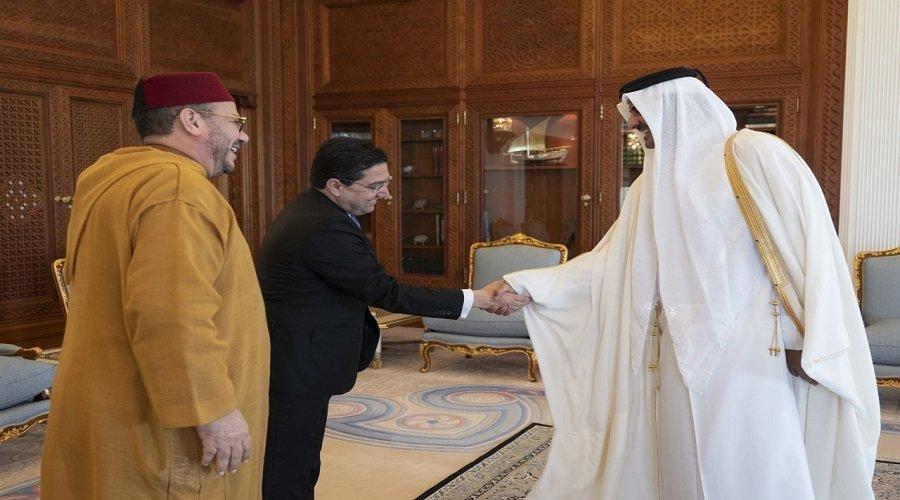 أمير قطر يستقبل المستشار الملكي فؤاد عالي الهمة وناصر بوريطة